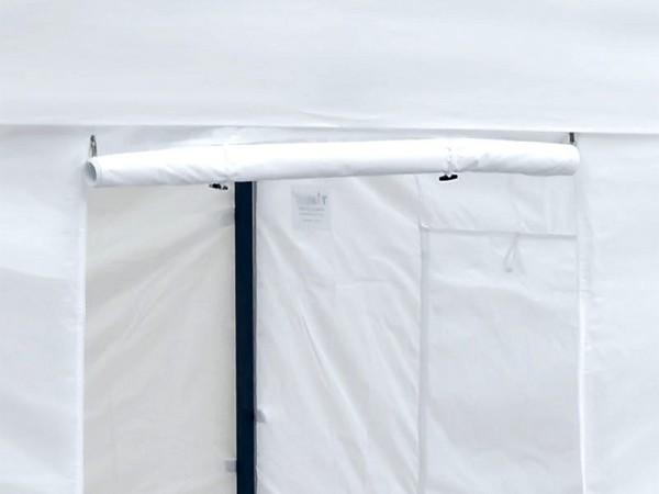 Faltzelt Pavillon-Set 3x3m Weiß Tür